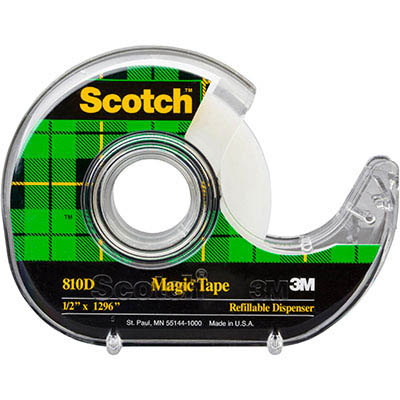 Image for SCOTCH 810 MAGIC TAPE IN DISPENSER 12MM X 33M from Challenge Office Supplies