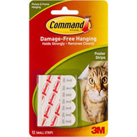COMMAND ADHESIVE POSTER STRIPS PACK 12