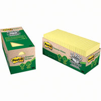 POST-IT 654R-24CP-CY 100% RECYCLED GREENER NOTES 76 X 76MM YELLOW CABINET PACK 24