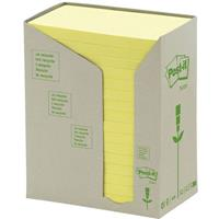POST-IT 655-RTY RECYCLED NOTES 76 X 127MM YELLOW PACK 16