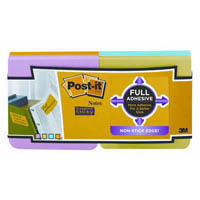 POST-IT F33012SSAU SUPER STICKY FULL ADHESIVE NOTES ULTRA COLOUR PACK 12