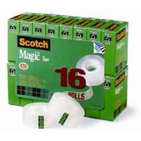 SCOTCH 810 MAGIC TAPE MULTI PACK 19MM X 25M PACK 16