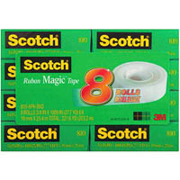 SCOTCH 810 MAGIC TAPE MULTIPACK PACK 8