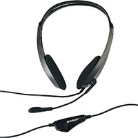 VERBATIM MULTIMEDIA HEADSET WITH MICROPHONE BLACK/SILVER