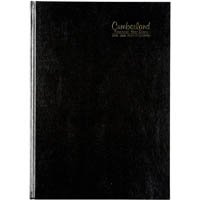 CUMBERLAND 2019-2020 FINANCIAL YEAR DIARY WEEK TO VIEW CASEBOUND A4 BLACK