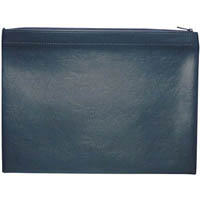 DEBDEN DOCUMENT SATCHEL ZIPPERED A4 PU COVER BLACK