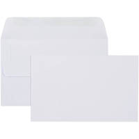 CUMBERLAND ENVELOPES PLAIN FACE SELF SEAL 80GSM 90 X 165MM WHITE BOX 500