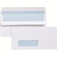 CUMBERLAND DLX ENVELOPES WINDOWFACE SECRETIVE BARCODE SELF SEAL 80GSM 120 X 235MM WHITE BOX 500