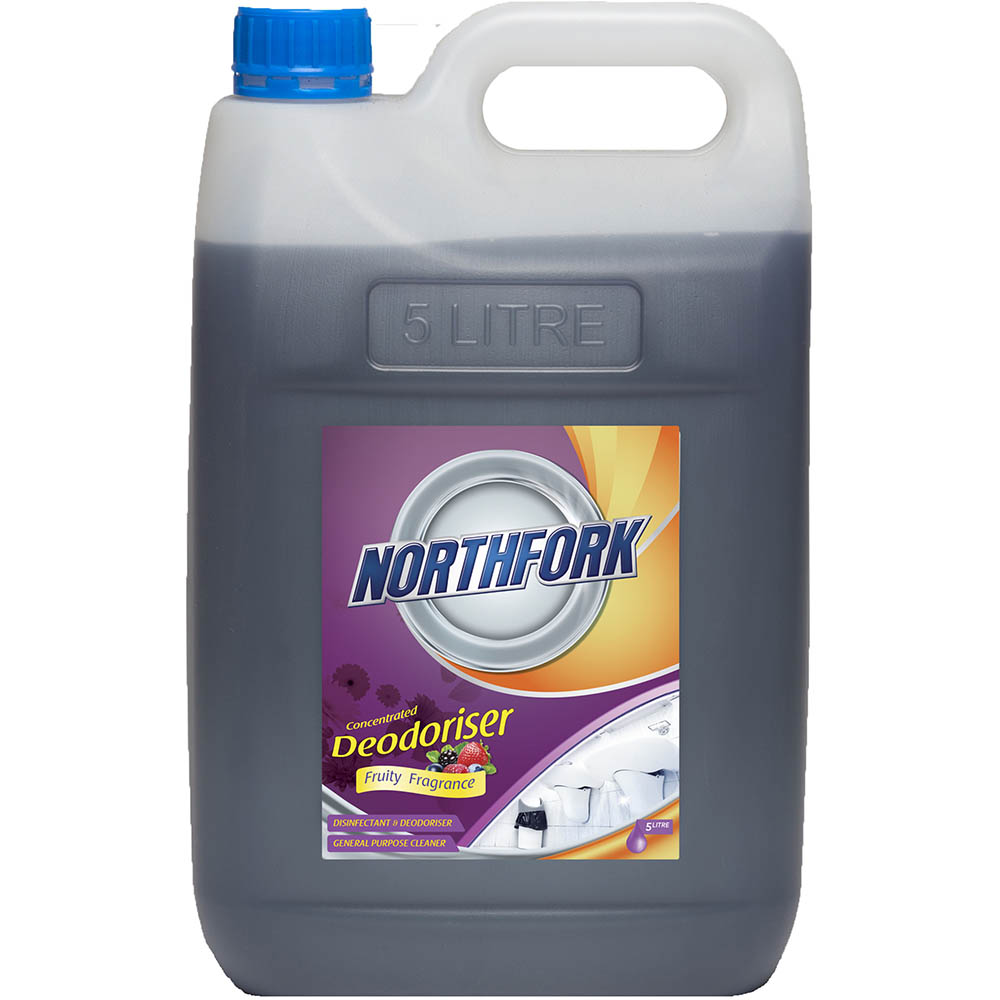 Image for NORTHFORK DEODORISER CONCENTRATED FRUITY FRAGRANCE 5 LITRE CARTON 3 from Australian Stationery Supplies Office Products Dep