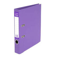 COLOURHIDE HALF LEVER ARCH FILE A4 PURPLE