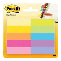POST-IT 670-10AB PAPER PAGE MARKERS 10 COLOURS