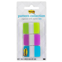 POST-IT 686-LVAT TABS GINGHAM COLLECTION ASSORTED PACK 36