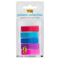 POST-IT 683-PLAID1-S COLOUR FLAGS GINGHAM ASSORTED PACK 100