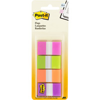 POST-IT 680-PGOP2 FLAGS 25MM COMBINATION PACK 40 FLAGS OF EACH COLOUR 24 X 4POST-ITM PINK, GREEN, ORANGE, PURPLE