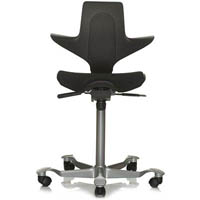 HAG CAPISCO PULS 8010 SADDLE CHAIR BLACK/BLACK
