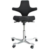 CAPISCO SADDLE CHAIR BLACK FABRIC