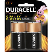 DURACELL COPPERTOP ALKALINE D BATTERY PACK 2