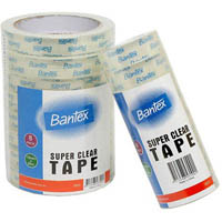 BANTEX SUPER CLEAR TAPE 18MM X 33M PACK 8