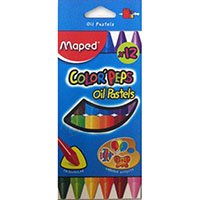 MAPED COLOR PEPS OIL PASTEL PACK 12