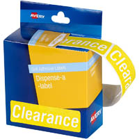 AVERY 937319 MESSAGE LABELS CLEARANCE 64 X 19MM YELLOW PACK 250