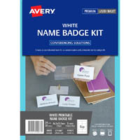 AVERY 959077 L7418K NAME BADGE KIT MICROPERFORATED 86.5 X 55.5MM WHITE