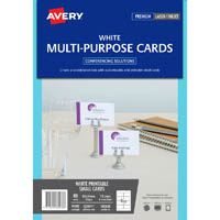 AVERY 980038 C32074 MULTI-PURPOSE EVENT CARDS DOUBLE SIDED INKJET LASER 8UP 85 X 54MM PACK 10
