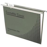 CRYSTALFILE SUSPENSION FILES CLASSIC FOOLSCAP WITH INDICATOR TABS AND INSERTS BOX 50