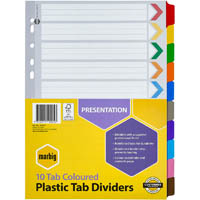 MARBIG INDEX DIVIDER MANILLA 10 TAB A4 ASSORTED