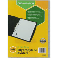 MARBIG DIVIDER INSERTABLE PP 10-TAB A4 ASSORTED