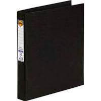MARBIG RING BINDER PE 25MM 2D A4 BLACK
