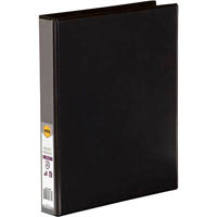 MARBIG CLEAR VIEW INSERT RING BINDER 2D 25MM A4 BLACK