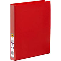 MARBIG CLEAR VIEW INSERT RING BINDER 2D 25MM A4 RED