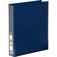 MARBIG CLEAR VIEW INSERT RING BINDER 2D 38MM A4 BLUE