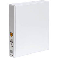 MARBIG CLEAR VIEW INSERT RING BINDER 2D 38MM A4 WHITE