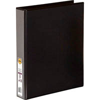 MARBIG CLEAR VIEW INSERT RING BINDER 4D 38MM A4 BLACK