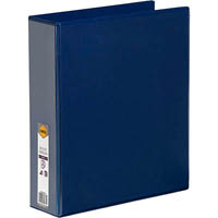 MARBIG CLEAR VIEW INSERT RING BINDER 2D 50MM A4 BLUE