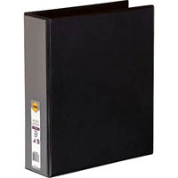 MARBIG CLEAR VIEW INSERT RING BINDER 2D 50MM A4 BLACK