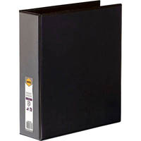 MARBIG CLEAR VIEW INSERT RING BINDER 4D 50MM A4 BLACK