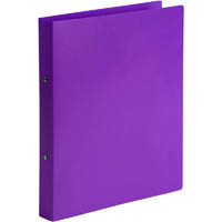 MARBIG SOFT TOUCH 2 RING BINDER A4 PURPLE