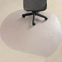 MARBIG CHAIRMAT PVC CONTEMPO CARPET 990 X 1240MM CLEAR