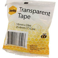 MARBIG OFFICE TAPE 18MM X 33M 25.4MM CORE