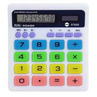 MARBIG CALCULATOR DESK TOP COLOURED 8 DIGIT DISPLAY