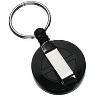 REXEL RETRACTABLE KEY HOLDER MINI WITH KEYRING AND CORD BLACK