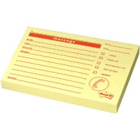 POST-IT PM03 NOTE PADS MESSAGE 100 SHEETS PER PAD 74 X 104MM RED ON YELLOW
