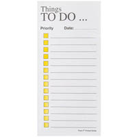 POST-IT PT06 NOTE PADS THINGS TO DO 100 SHEETS PER PAD 70 X 148MM YELLOW ON WHITE