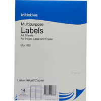 INITIATIVE MULTIPURPOSE LABELS 14UP 99.1 X 38.1MM PACK 100