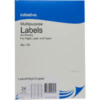 INITIATIVE MULTIPURPOSE LABELS 24UP 64 X 33.8MM PACK 100