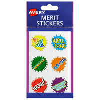 AVERY 69614 MERIT STICKERS PAINT SPLATS PACK 96