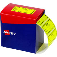 AVERY 932622 MESSAGE LABEL HOLD 75 X 36.1MM FLUORO YELLOW PACK 2000
