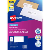 AVERY 952000 L7160 QUICK PEEL ADDRESS LABEL WITH SURE FEED LASER 21UP WHITE PACK 20
